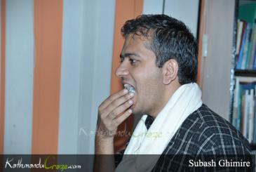 Honouring Subash Ghimire